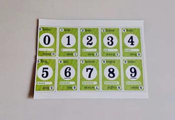 数字卡片1-10