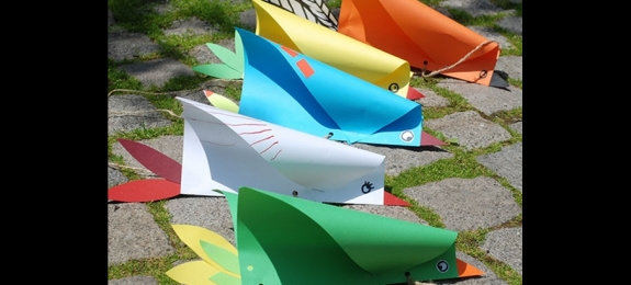 制作简单的鸟形风筝