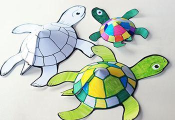 创意手工乌龟的一家